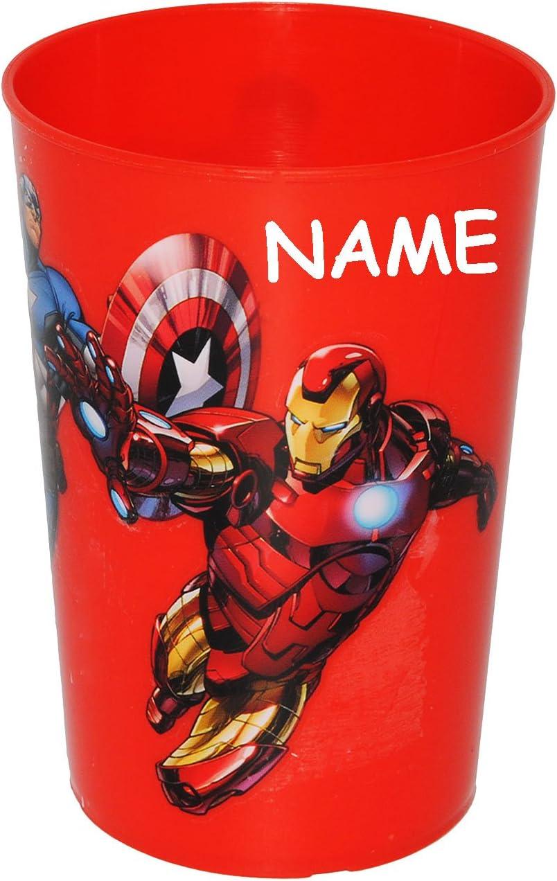 Becher Name ROT incl Trinkbecher // Zahnputzbecher // Malbecher The Avengers Assemble alles-meine.de GmbH 4 St/ück /_ 3 in 1 Trinkglas aus Kunststoff Plasti.. 280 ml