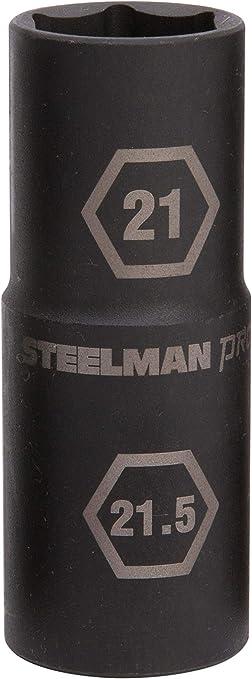 STEELMAN 5 PIECE 1//2 IN DRIVE 6 POINT THIN-WALL IMPACT FLIP SOCKET 99495