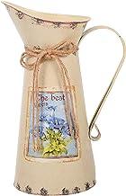 ABOOFAN 1 Piece Vintage Bloem Emmer Mooie bloem vaas bloemcontainer ( beige ) Party Favors