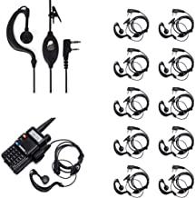 Ybee Newest 10 Pack Earpiece Headset Mic for Baofeng UV 5R/5RA/5RA+/5RB/5RC/5RD/5RE/5RE+..