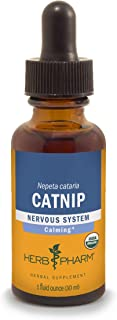 Herb Pharm Certified Organic Catnip Liquid Extract for Calming Nervous System Support - 1 Ounce