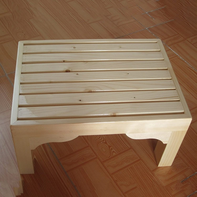 LJHA ertongcanyi Solid Wood Footstool Bedside Stool Bathroom Pedal Sofa Pedaling Stool Office Footrest (color   A, Size   20  40cm)