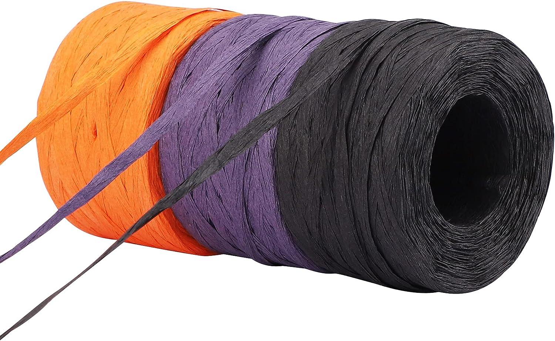 3 Rolls 984 Feet Raffia Super intense SALE Paper R Ribbon Gift Wrap Genuine Free Shipping Festival