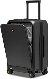 """LEVEL8 Carry-On Luggage, Road Runner Pro 20"""" Lightweight PC Hardside Suitcase with USB Charging Port, Spinner Trolley for ..."""