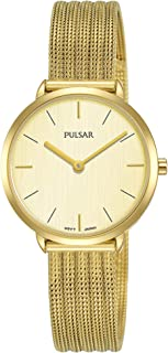 Pulsar casual Womens Analog Quartz Watch with Stainless Steel bracelet PM2284X1