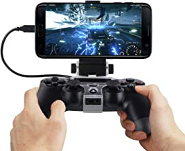 MOSTOP PS4 Slim Pro Controller Clip Bracket 6 inch and below Smartphone Gaming Holder for PS4 Slim / Pro Wireless Dualshock Controller (PS4 Slim Pro Controller Clip)