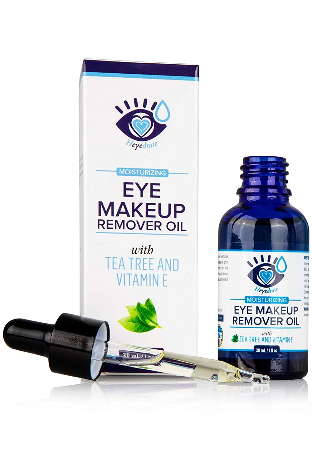 Gentle, Waterproof Eye Makeup Remover - Moisturizing and Organic with Vitamin E and Tea Tree Oil to Support Dry, Itchy Eyelids and Irritated Eyes (1-Pack) : Beauty