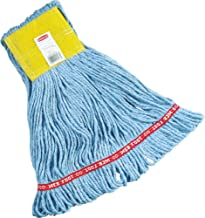 Rubbermaid Commercial FGA15106BL00 Web Foot Mop Head, 5-inch Headband, Small, Blue
