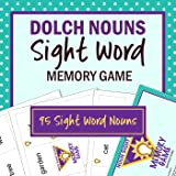 Dolch Nouns Sight Word Memory Game