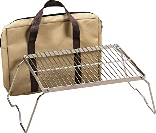 REDCAMP Folding Campfire Grill 304 Stainless Steel Grate, Heavy Duty Portable Camping Grill with Legs Carrying Bag, Medium and Large