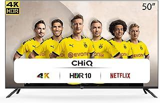 CHiQ U50H7L UHD 4K Smart TV, 50 Pouces (126 cm), HDR10 / hlg, WiFi, Bluetooth, Youtube, Netflix 5,1, Youtube Kids, 3 HDMI,...