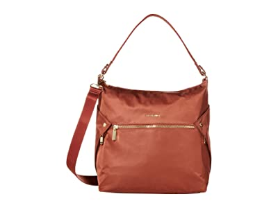 Hedgren Oblique Hobo (Rosewood) Hobo Handbags