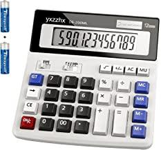 ماشین حساب ها ، دسکتاپ باتری دو طرفه و ماشین حساب های خورشیدی ، دکمه های بزرگ فشار آسان با انگشتان مورد استفاده به عنوان ماشین حساب مالی برای دانشجویان یا دفتر ، صفحه نمایش بزرگ 12 رقمی به وضوح