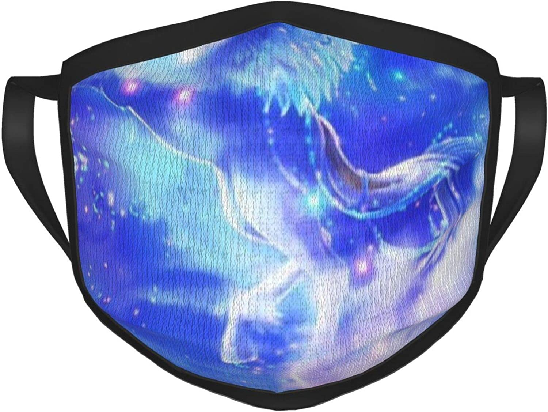 LANJYF 2 Packs Washable Mouth Wear, Pegasus Moon Unisex Face Cloth