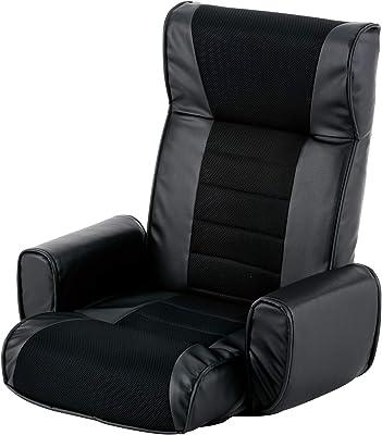 武田コーポレーション 【座椅子・肘掛け・いす・レザー】 レザー調 肘付座椅子 BK A6-RH66BK