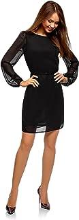 oodji Ultra Women's Belted Chiffon Dress