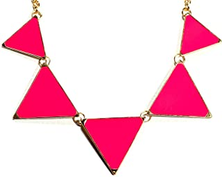 Best pink triangle necklace Reviews