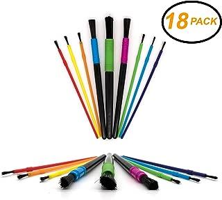 Emraw Kids Water Color Paint Brush Set Assorted Size Artist Soft Anti-Shedding Hog Bristle Paint Brush Set for Acrylic Watercolor Oil Painting Nail Art Brush 18 Piece