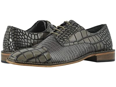 Stacy Adams Talarico Leather Sole Cap Toe Oxford (Gray) Men