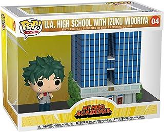 Funko 48168 POP Town: My Hero Academia-U.A. High School w/Deku in Uniform Collectible Toy, Multicolour