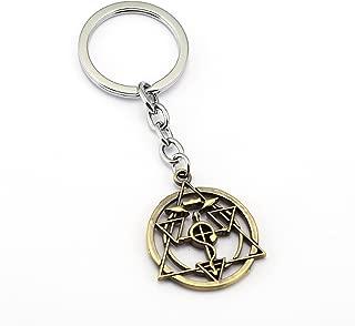 YOYOSHome Fullmetal Alchemist Anime Cosplay Characters Keychain Key Pendant Accessories