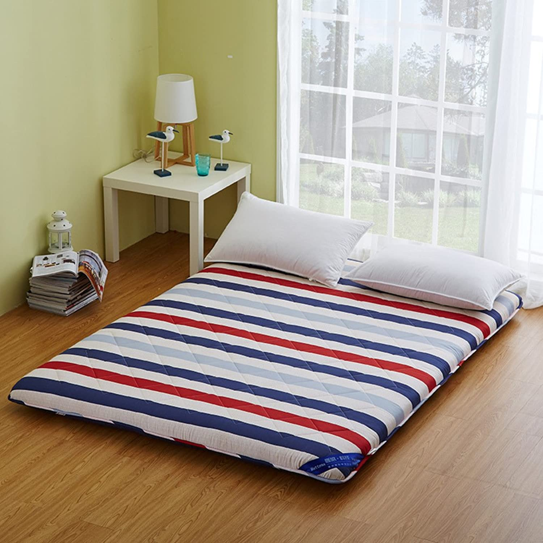 Japanese Style Thick Tatami Mattress, Floor mat Quilted Foldable Cushion mats Student Dorm Non-Slip futon Mattress Topper-B 150x220cm(59x87inch)