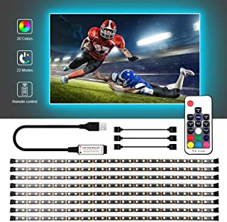 USB LED Strip Lights Kit, Bias Lighting With RF Remote Controller, IP65 Waterproof Flexible Strip Light, 5050 RGBW, 5V USB Cable TV Backlight Kit, Lighting Rope For TV, Mirror, PC Monitor, 4M/ 13.12ft