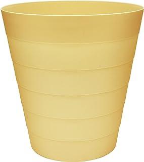 MAKREL® – Corbeille à papier en plastique, couleurs pastel, design moderne, pour cuisine, salle de bain, bureau (sorbet ci...