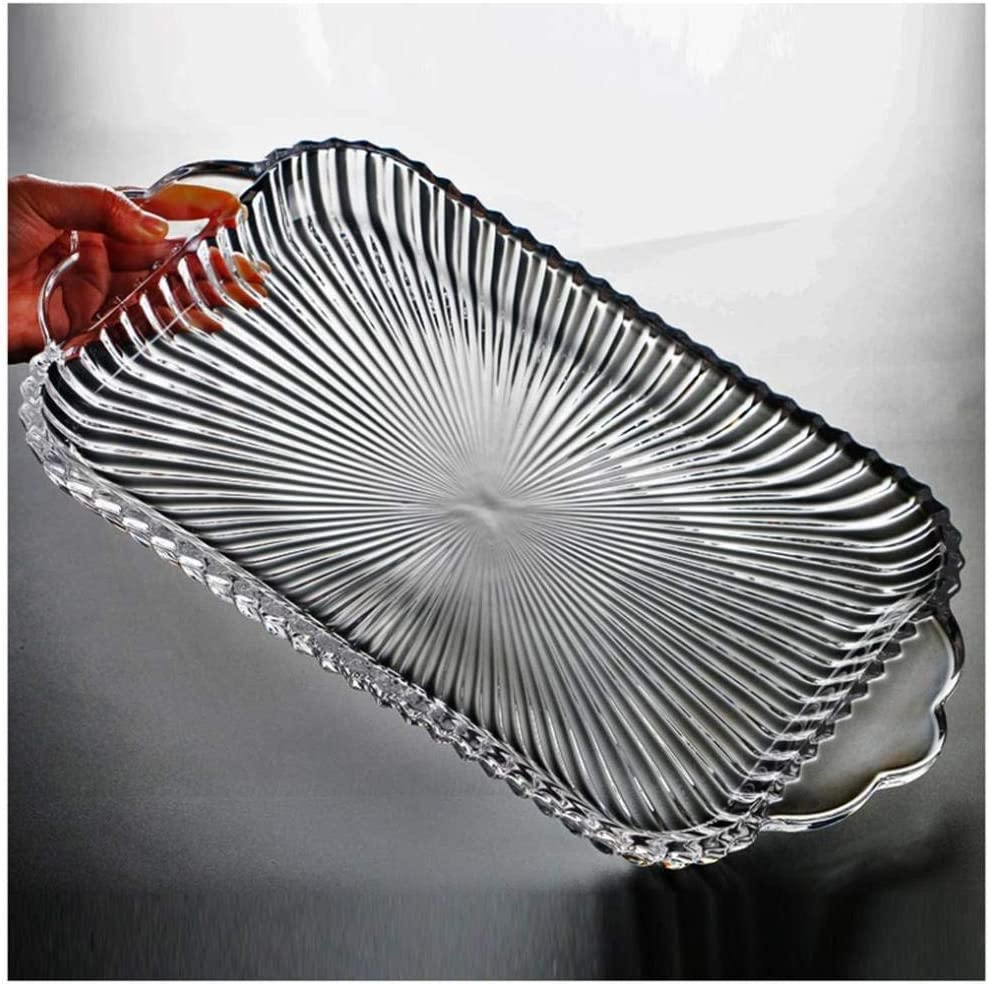 Glass Fruit New Elegant item Bowls Plate Holder Household