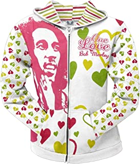 Bob Marley - One Love All Over Juniors Zip Hoodie