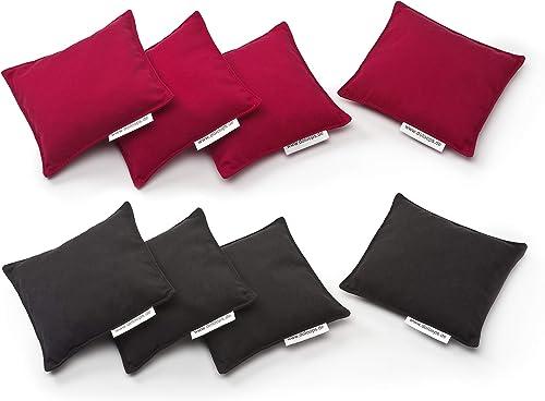 doloops Original Cornhole 8er Bag Set - 4 rote und 4 Schwarz Turnierbags als Set