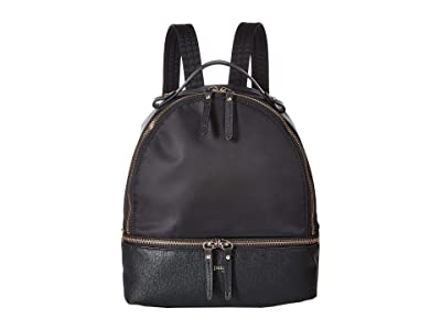 Lipault Paris Plume Avenue Small Backpack (Jet Black) Backpack Bags