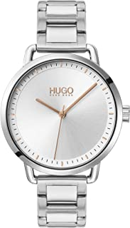 Hugo Boss Women's Silver White Dial Stainless Steel Watch - 1540055