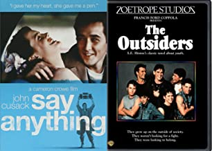 Say Anything & The Outsiders DVD 80's Teen Movie Bundle Double Feature Set