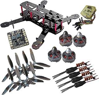 Drohneks QAV250 Kit de Quadcopter de Carbono + Tarot MT2204Ⅱ 2300KV Motor sin escobillas + BLHeli 12A ESC + CC3D FC +6045 Atrezzo de 3 Cuchillas + Tablero de Cubo de alimentación Matek