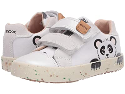 Geox Kids Kilwi 71 (Toddler) (White/Black) Girl
