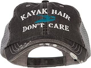 Kayak Hair Don't Care Embroidered Cotton Mesh Cap
