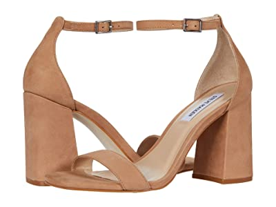 Steve Madden Dillion Heeled Sandal (Tan Nubuck) Women