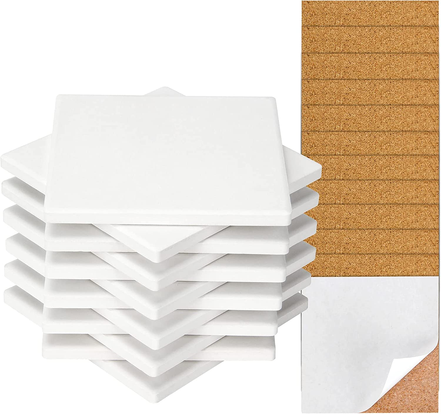 Ceramic Tile for Crafts ! Super beauty product restock quality top! Coasters Tiles Ung 12 White Pack Max 51% OFF