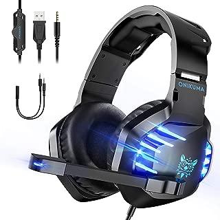 ゲーミングヘッドセット PS4用ヘッドセット ヘッドホン ヘッドフォン LEDマイク付き ゲームヘッドセット 有線 通気 高音質 重低音強化 ノイズキャンセリング 騒音抑制 伸縮可能 ゲーム用 PC用 男女兼用 Switch/Xbox One/PS4 最適
