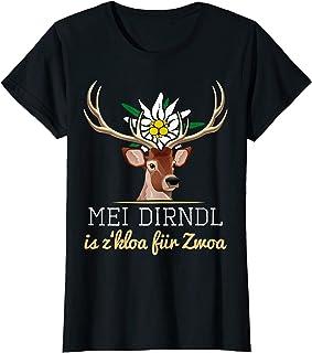 """Mei Dirndl T-Shirts für Schwangere Damen Mei Dirndl is z""""kloa für Zwoa lustiger Ersatz für Schwangere T-Shirt"""