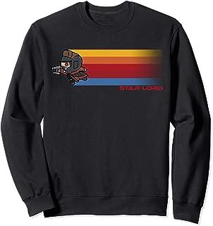 Marvel Guardians Star-Lord Kawaii Rainbow Graphic Sweatshirt