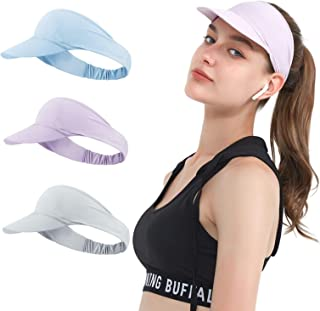 3 Pieces Hat for Women Men Golf Sun Visor Cap Quick Dry Hat Sports Tennis Hat- Womens Lightweight Tie Dye Visor