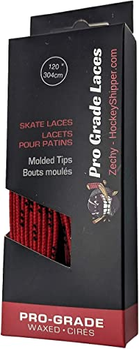 """Waxed Hockey Laces White 120/"""" Super Skates Pro Series reinforced"""