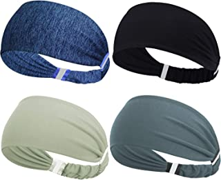 Obacle Headbands for Men Women Sweat Bands Headbands Non Slip Breatheable Durable High Elastic Reflective Head Band Outdoor Sports Workout Yoga Gym Running Jogging Exercise, 3 Pack