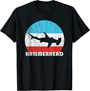 Hammerhead Shark Vintage Retro Silhouette Gift T-Shirt