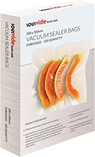 SousVideTools 200 x 300 mm Vacuum Sealer Bags (Box of 100) | Embossed Food Saver Pouches Designed for Sous Vide Cooking an...