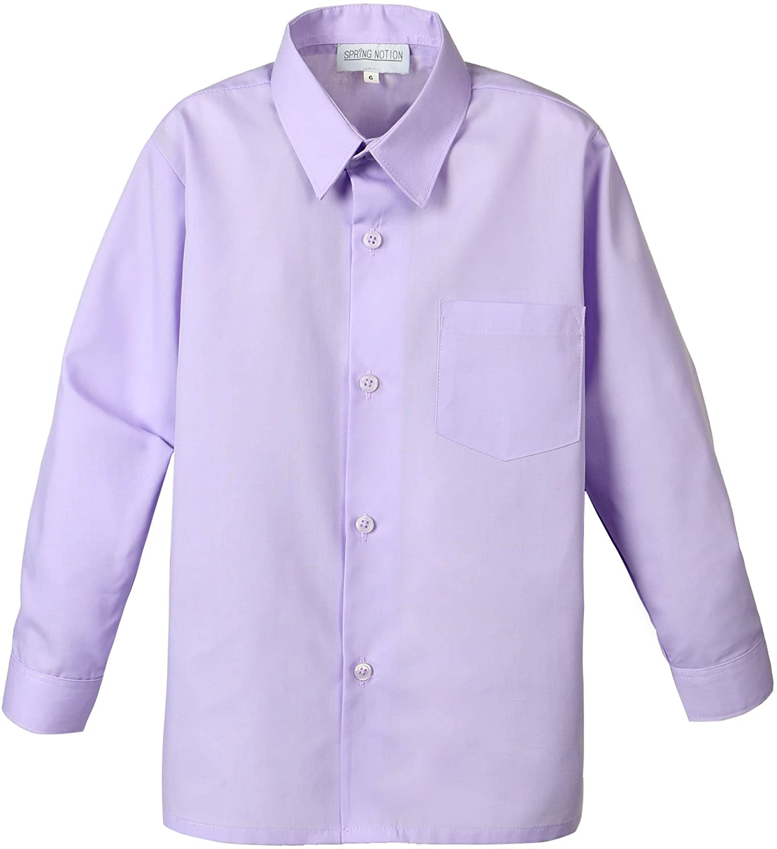 Spring Notion Baby Boys' Long Sleeve Dress Shirt