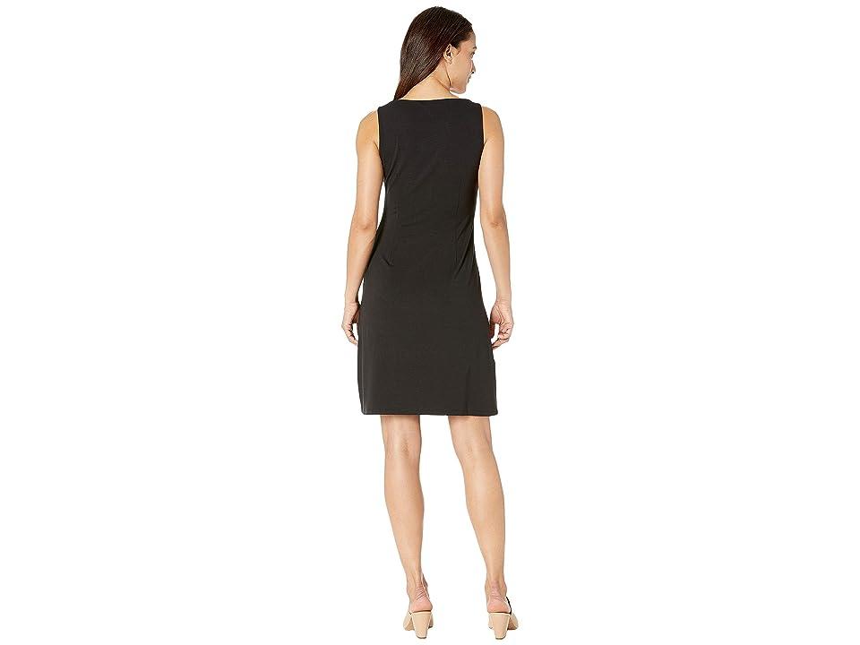 Tommy Bahama Tambour Sleeveless Short Shift Dress (Black) Women's Dress