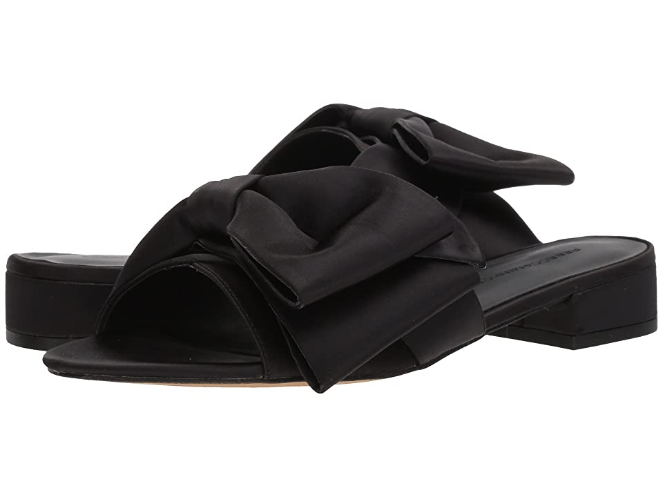 Rebecca Minkoff Calista Slide (Black Satin) Women